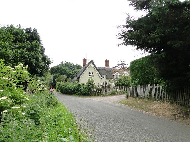 Thatched cottage in Ufford, Suffolk