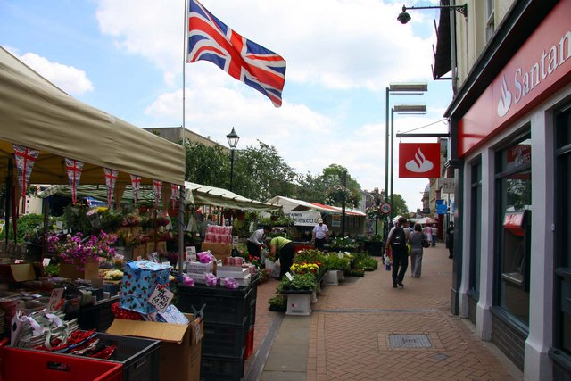 The street market in Bicester