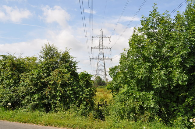 Pylon and high voltage cables