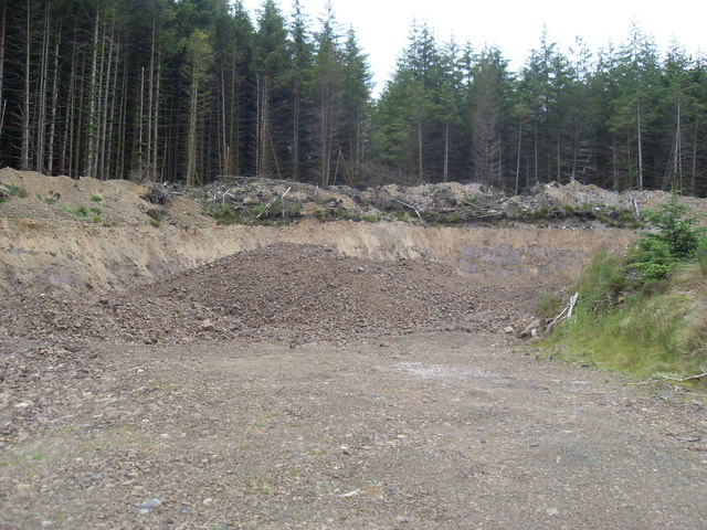 Modern quarry in Carsphairn Forest