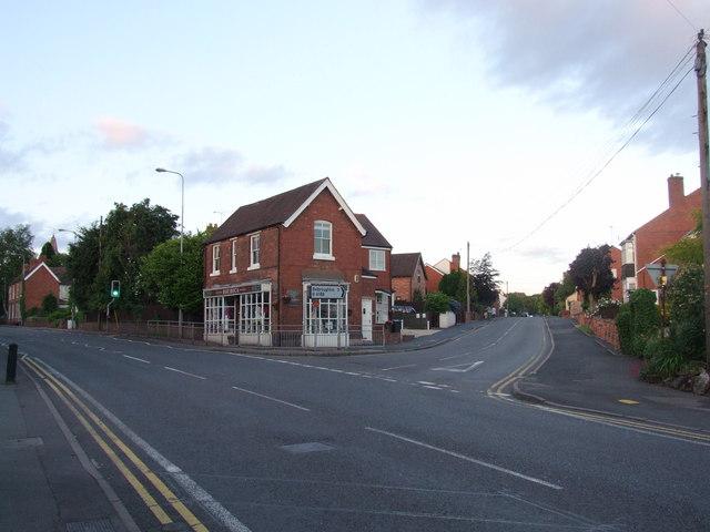 Junction of Birmingham Road and Belbroughton Road, Blakedown