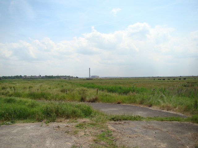 View of Littlebrook Power Station from Rainham Marshes Nature Reserve