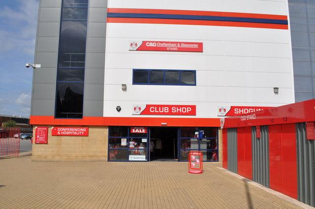 Kingsholm Stadium shop