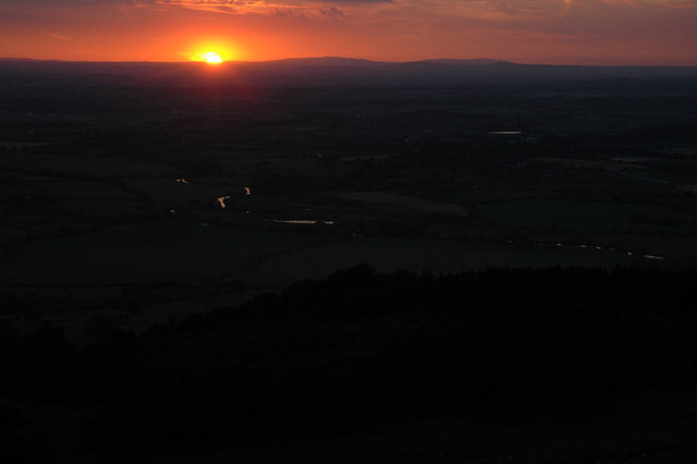 Sunset on the Solstice, Bredon Hill
