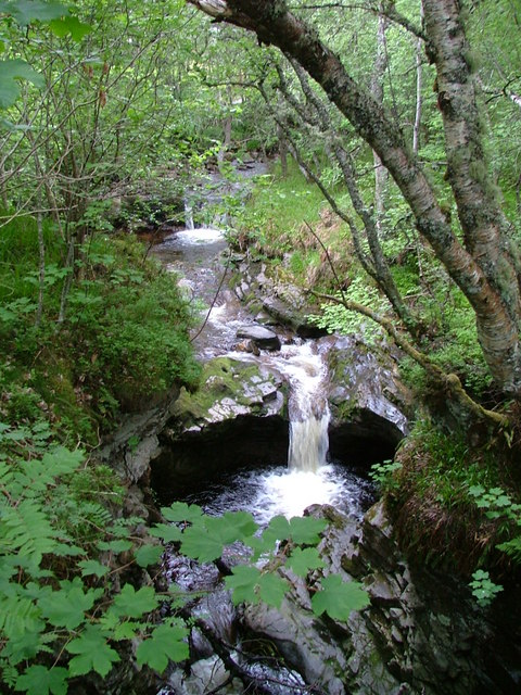 Waterfall on the Gynack Burn
