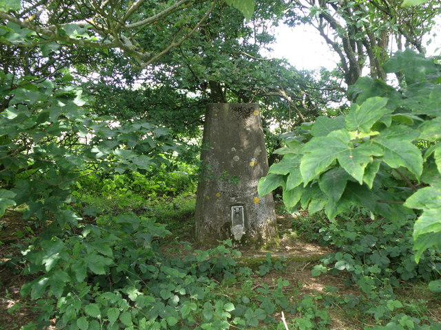 Triangulation Pillar by a restricted byway