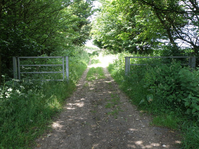 Start of restricted byway on Flint Hill