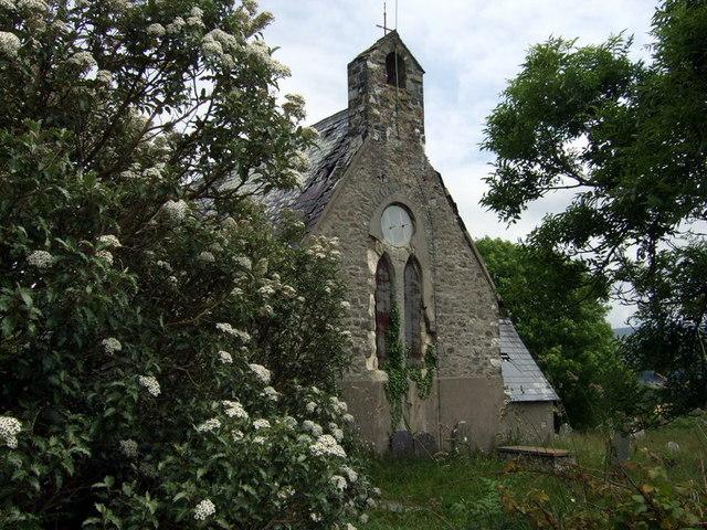 Llanllawer church, from the west