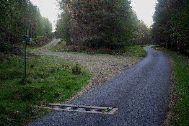 Road drain, Glenfeshie