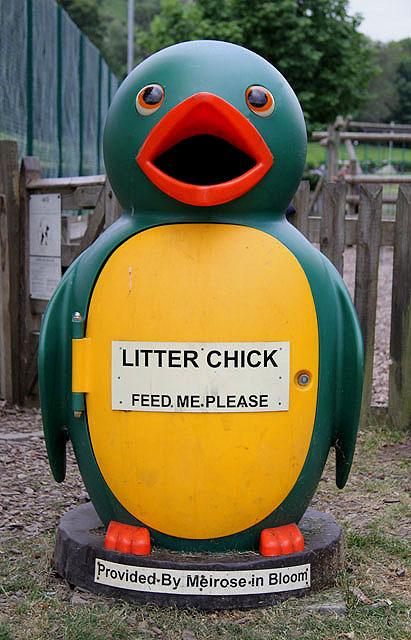 A Litter Chick bin in Gibson Park, Melrose