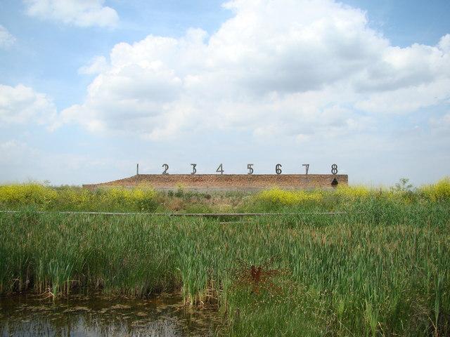 Target range in Rainham Marshes Nature Reserve