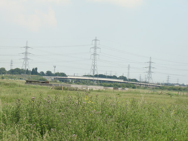 View of New Tank Hill Road bridge, viewed from the main path through Rainham Marshes Nature Reserve #2