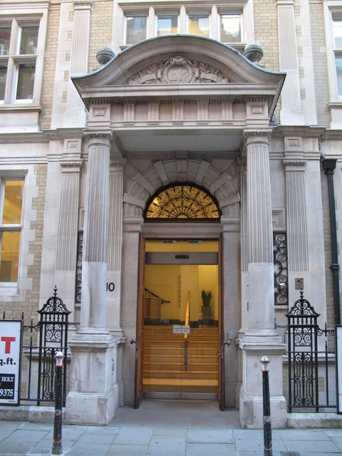 Entrance to the Patent Office building, Furnival Street, EC4
