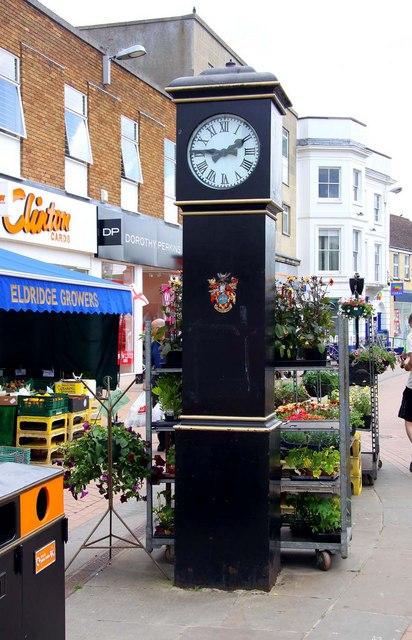 The clock on Sheep Street