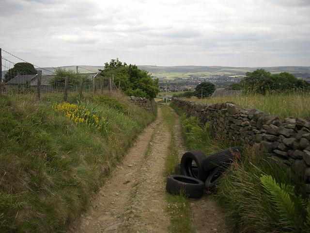Rydings Lane, rural Rochdale