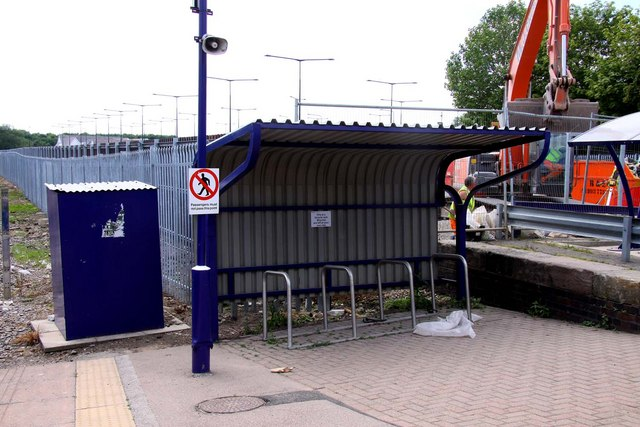 Cycle rack at Bicester Town Station