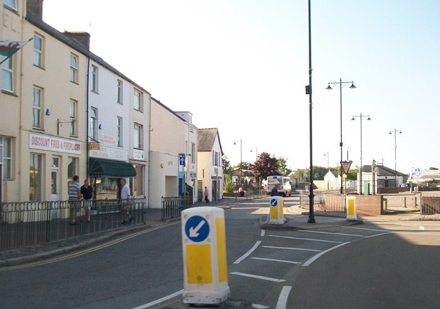 The east side of the Square at Pwllheli