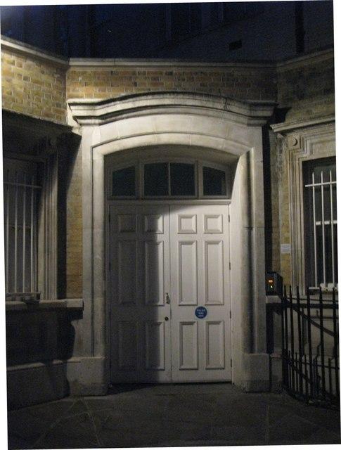 Corner doorway, Took's Court, EC4