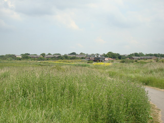 View of the Rainham Marshes Nature Reserve Information Centre