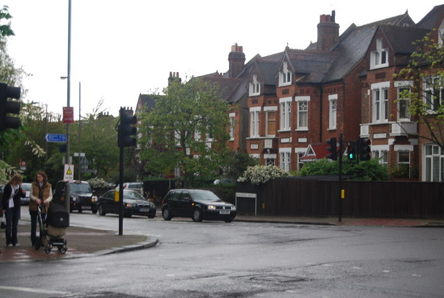 Road junction on the edge of Wandsworth Common