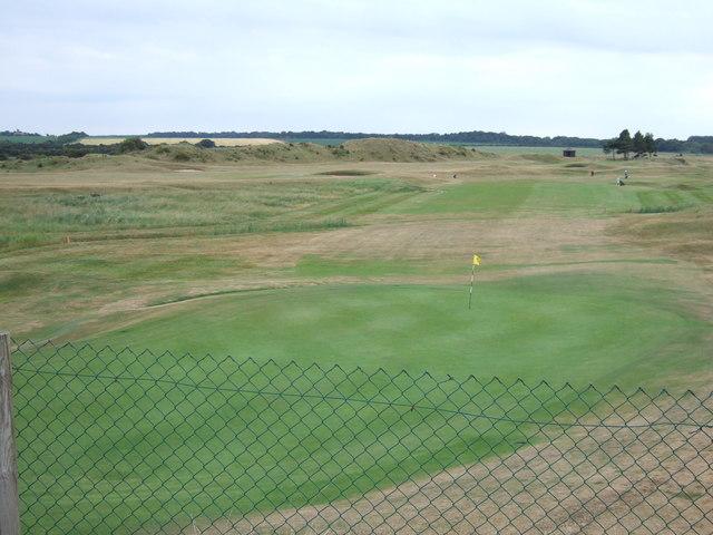 The 10th green, Hunstanton Golf Club
