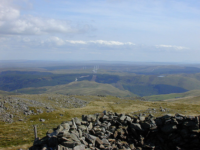 View towards Cefn Croes from Pumlumon Fawr