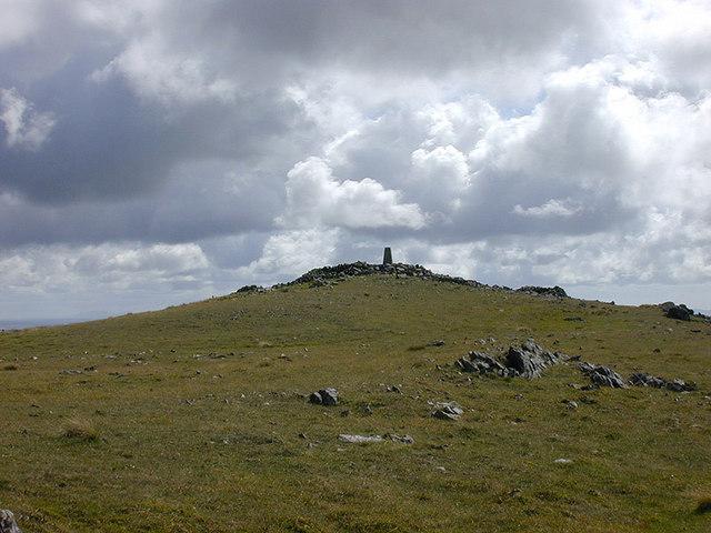 The summit of Pumlumon Fawr