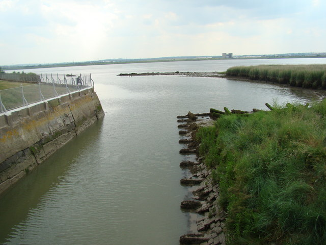 View of the Mar Dyke entering the Thames