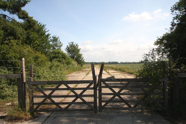 Former airfield at Snailwell