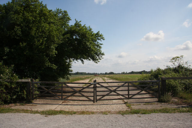 Former runway at RAF Snailwell