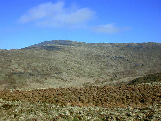 View towards Pumlumon Fawr over the Nant y Moch