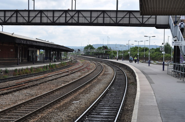 Railway tracks at Gloucester station