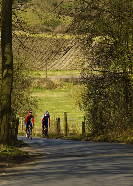 Cyclists in Woldingham