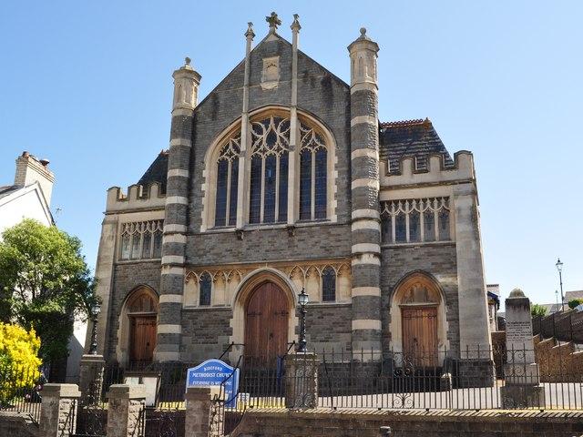 Bideford Methodist Church at the top of the High Street