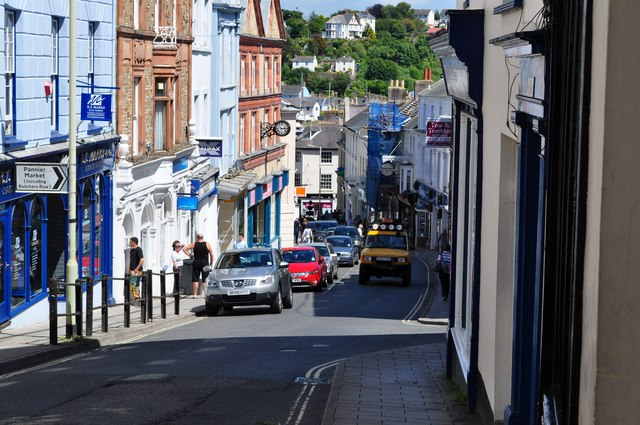 Bideford High Street near the junction with Grenville Street