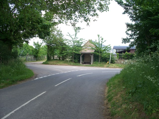 Bus shelter at the junction