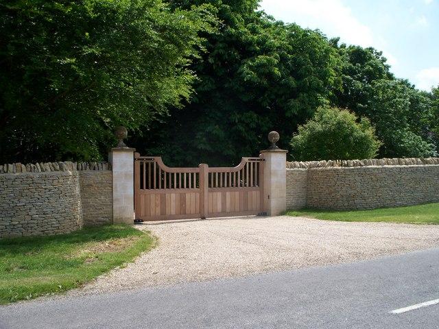 Gates to Idbury House