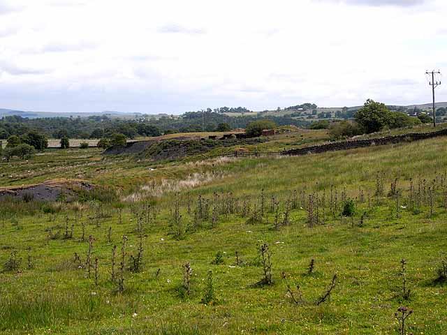 Old coal mine and railway, Halton Lea Gate