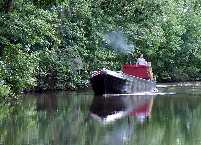 Working boat on the Coventry Canal near Fradley, Staffordshire