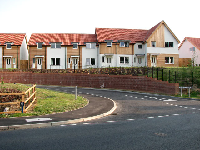 New housing in Russell Close, Peasenhall