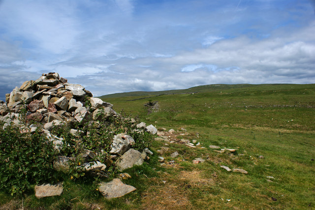 The cairn above Todd's Wood - looking North