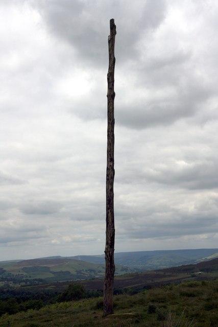 Wooden Pole, Longshaw, Sheffield