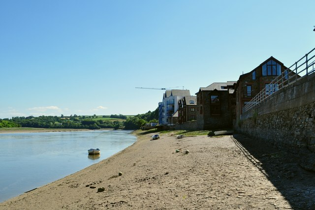 Wooder Wharf and the river Torridge