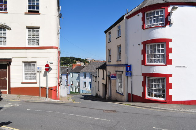 Lower Meddon Street leading away from the junction with Meddon Street and Torridge Hill
