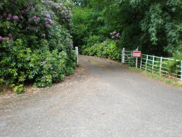 Entrance to Brenachoile Lodge, Loch Katrine