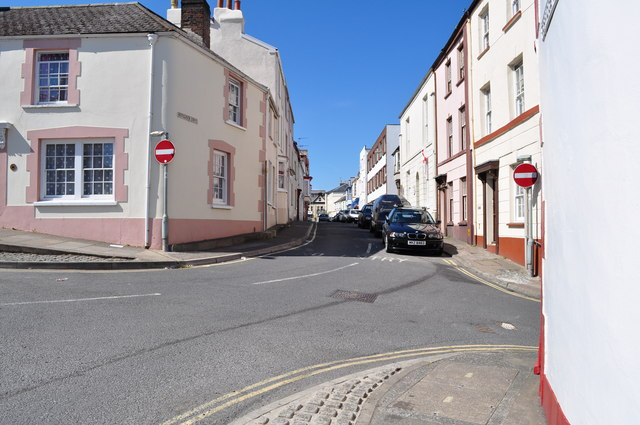 Buttgarden Street leading away from the junction with Torridge Hill and Meddon Street