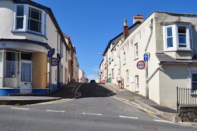 Silver Street leading away from Meddon Street