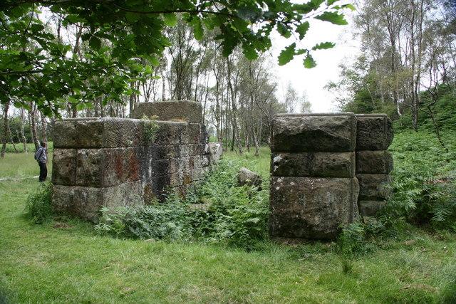 Ruined engine house, Bole Hill Quarry, Derbyshire