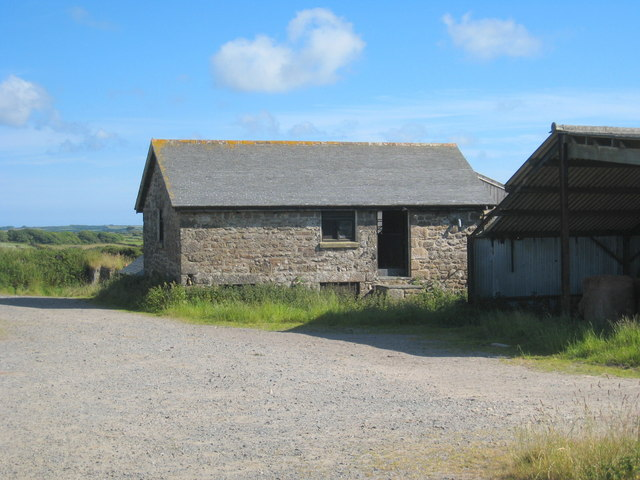 Traditional stone barn at Lower Trewern