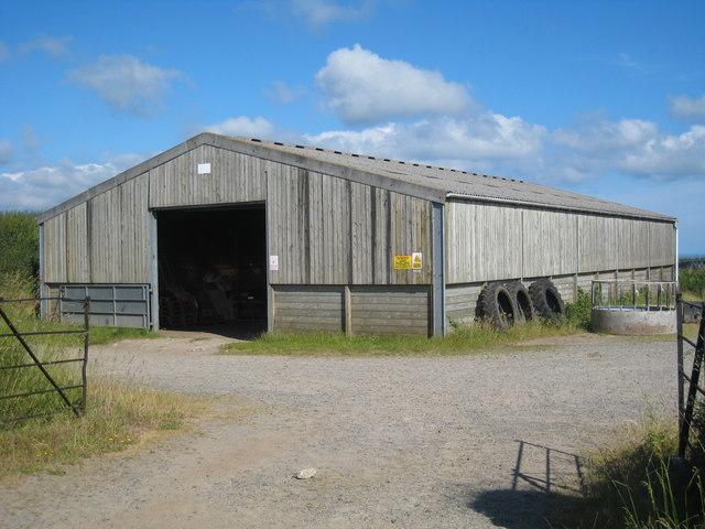 Modern barn at Lower Trewern